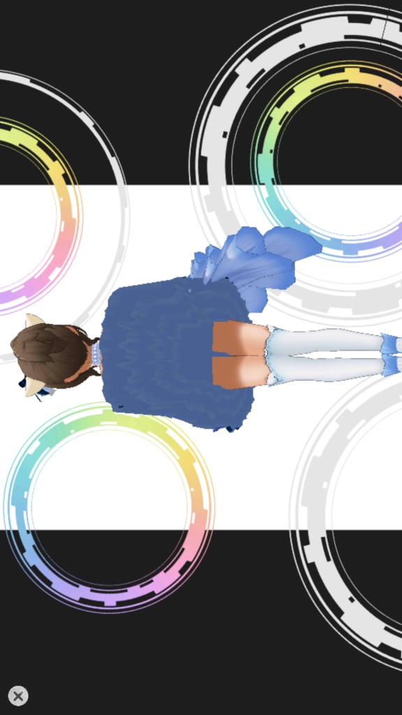 3Dビュー - スカートめくり