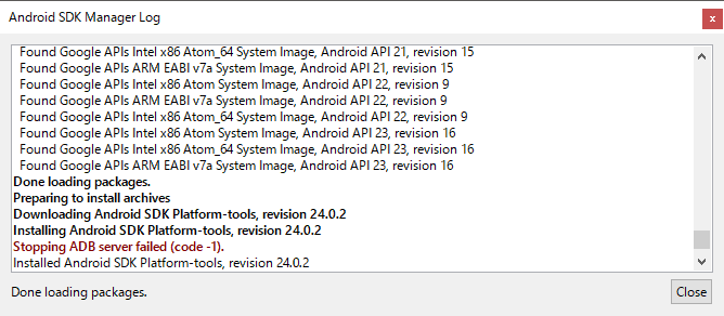 Android SDK Manager - 設定